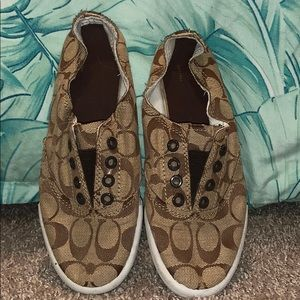 Coach Katie Flat Sneaker - brown